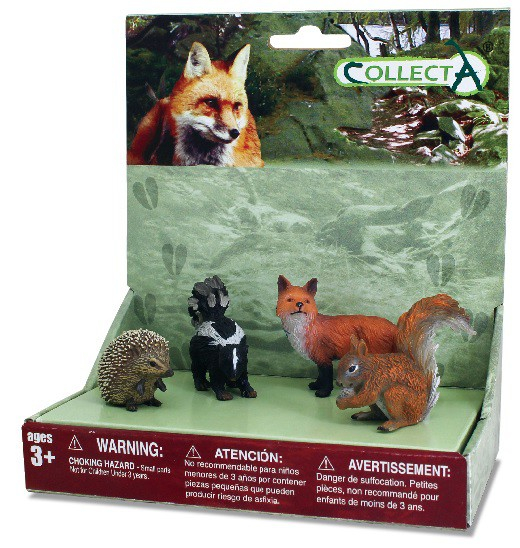 Set 4 figurine Animale din padure - Collecta 0