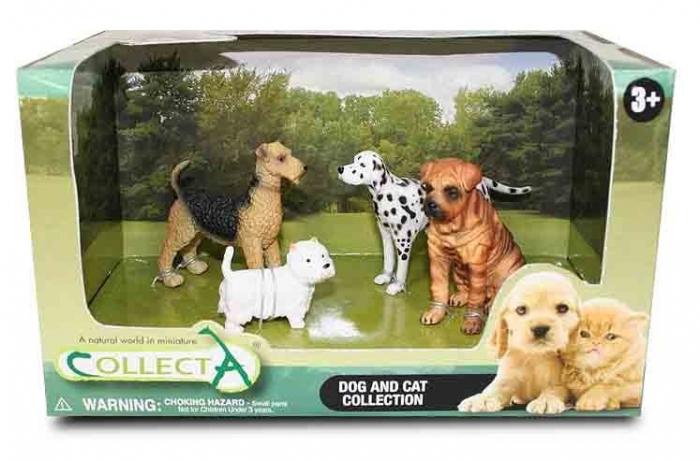 Set 4 Figurine  Catei si Pisici Collecta 0