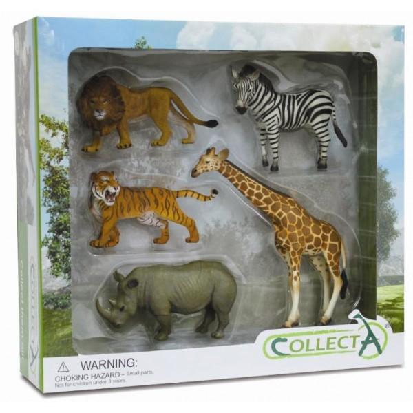 Set 5 figurine safari Collecta 1