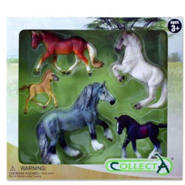 Set 5 figurine viata cailor Collecta 0