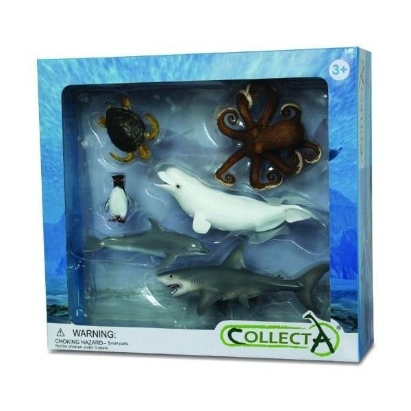 Set 6 figurine viata acvatica Collecta 0
