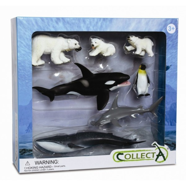 Set 7 figurine Viata Marina Collecta 0