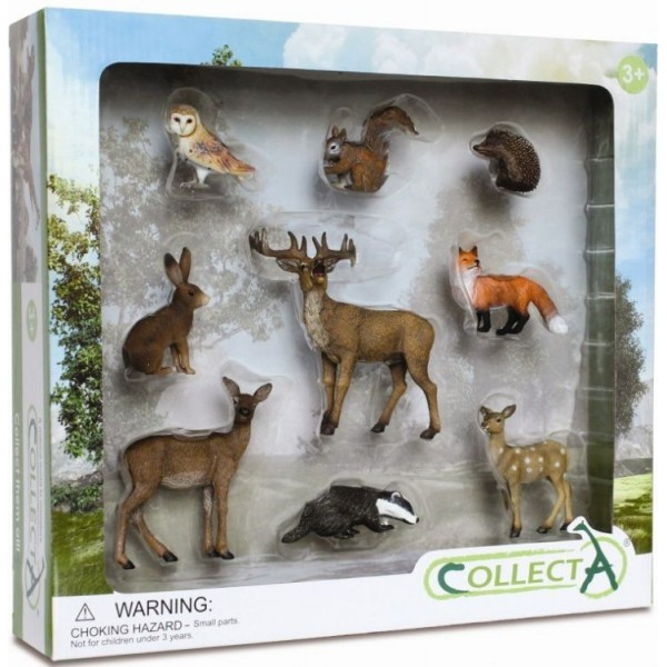 Set 9 figurine animale de padure Collecta 0