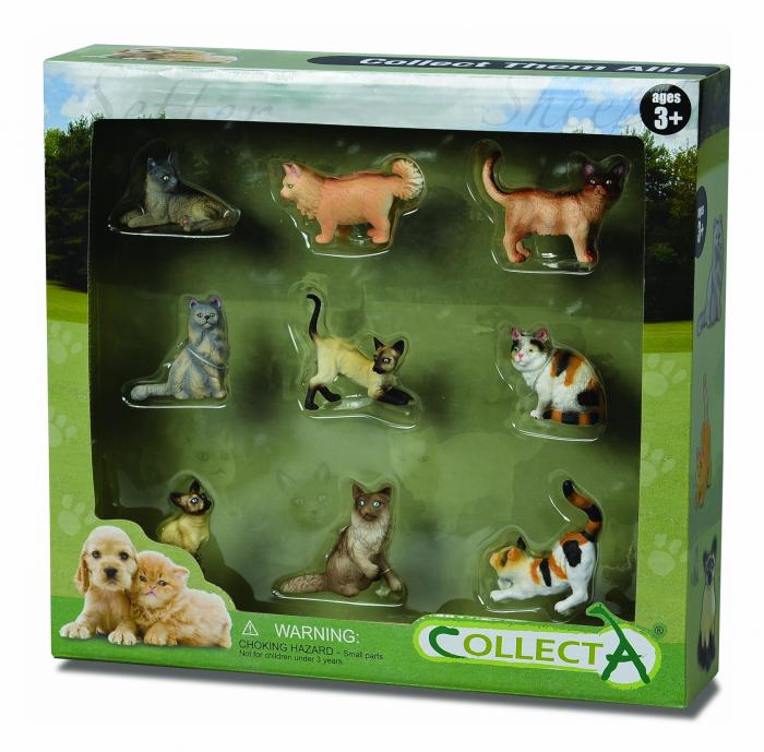 Set 9 figurine Catei si Pisici Collecta 0