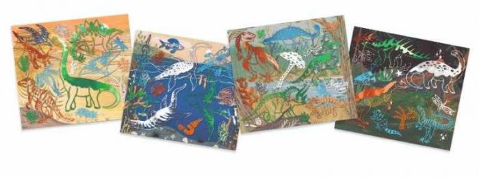 Set creativ transfer Djeco, Dinozauri 2