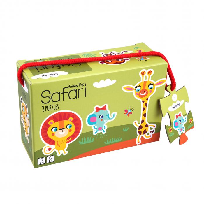 Set de 3 puzzle, Safari - Little Bright Ones [0]