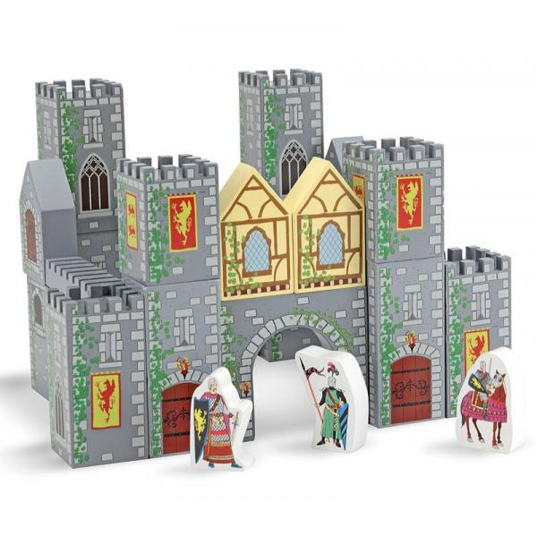 Set de cuburi din lemn Castel Melissa and Doug 0