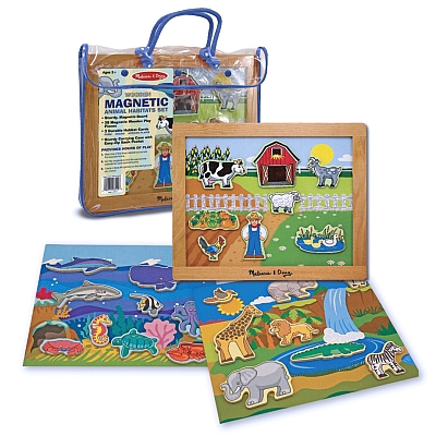 Set de joaca magnetic Habitatele animalelor Melissa and Doug 0