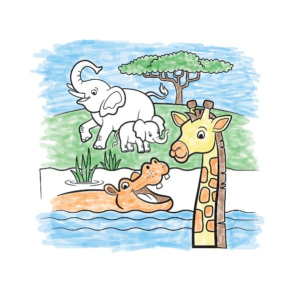 Set de pictura cu apa Safari Melissa and Doug 0
