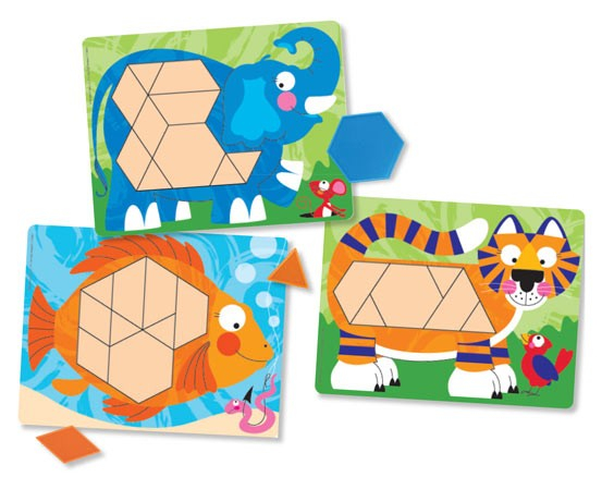 Set de sabloane cu animale Melissa and Doug 2