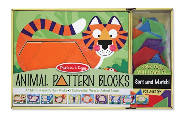 Set de sabloane cu animale Melissa and Doug 1