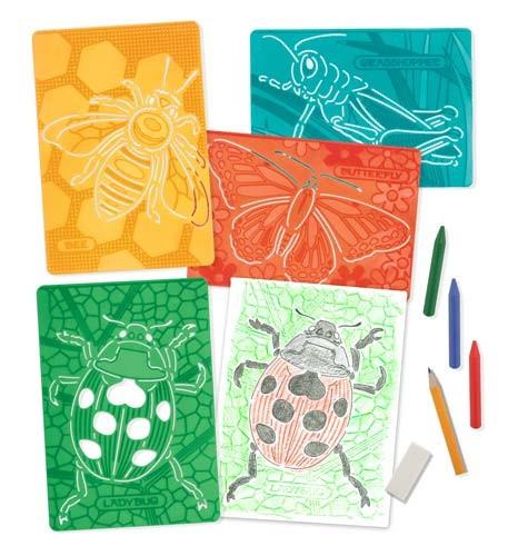 Set de sabloane texturate Insecte Melissa and Doug 0