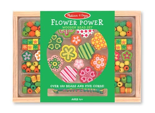 Set margele din lemn Flower Power Melissa and Doug 1