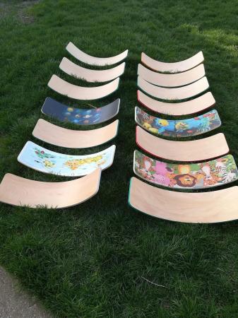 Placa echilibru cu margini colorate, Balance Board1
