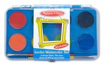 Acuarele Jumbo set de 8 culori cu pensula Melissa and Doug1