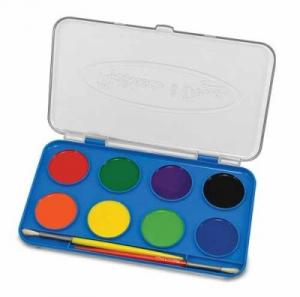 Acuarele Jumbo set de 8 culori cu pensula Melissa and Doug0