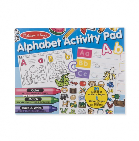 Bloc cu activitati Alfabetul in engleza Melissa and Doug1