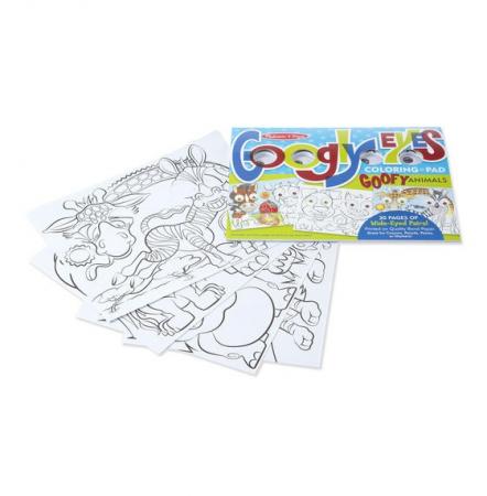 Bloc cu desene de colorat Animale Caraghioase Melissa and Doug3
