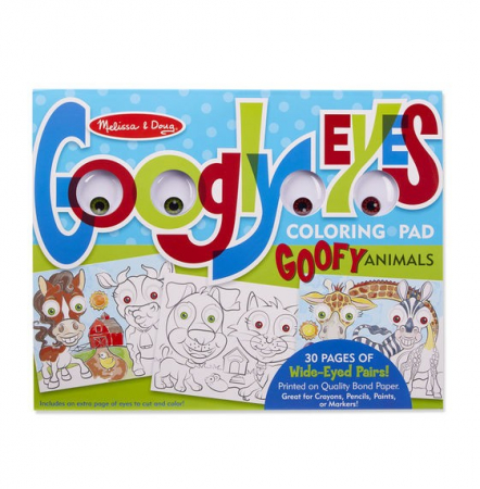 Bloc cu desene de colorat Animale Caraghioase Melissa and Doug4