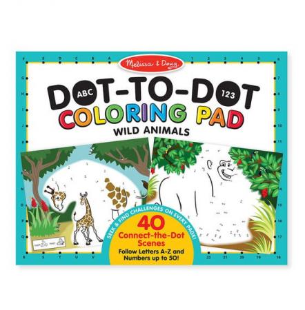 Bloc de colorat punct cu punct Animale salbatice - Melissa & Doug1