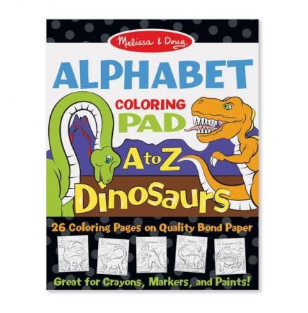 Bloc de desent Alfabetul dinozaurilor - Melissa & Doug1
