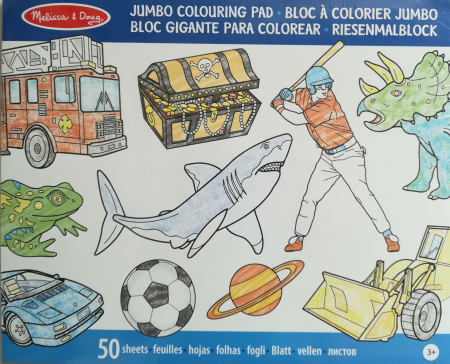 Caiet jumbo cu desene pentru colorat Melissa and Doug Albastru1