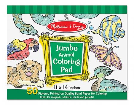 Caiet jumbo cu planse pentru colorat Animale Melissa and Doug2