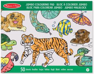 Caiet jumbo cu planse pentru colorat Animale Melissa and Doug1