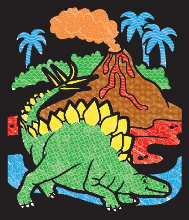 Carnet de colorat Catifeaua magica Dinozauri Melissa and Doug2