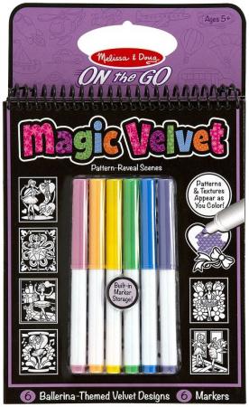 Carnet de colorat Catifeaua magica Fluturi si Flori Melissa and Doug1