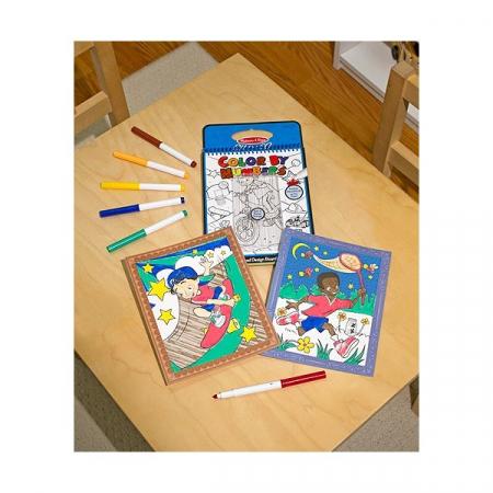 Carnet de colorat pe numere Melissa and Doug Albastru2