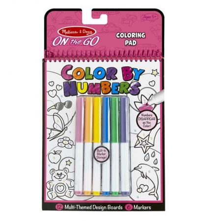Carnet de colorat pe numere pentru fetite Melissa and Doug2