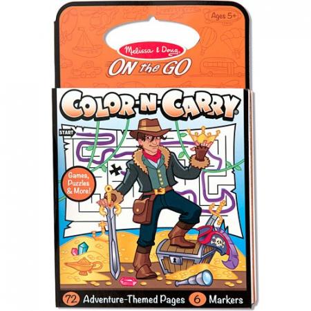 Carnet de colorat pentru calatorie Aventuri Melissa and Doug1
