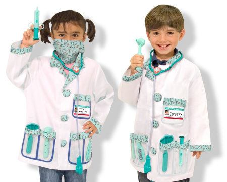 Costum carnaval copii Medic Melissa and Doug1