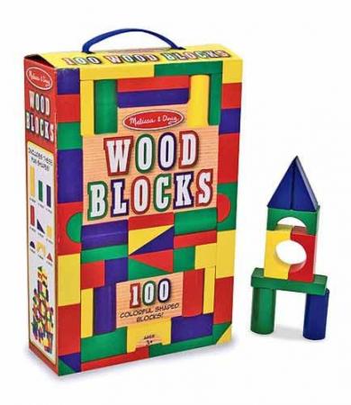 Cuburi din lemn colorate Melissa and Doug 1001