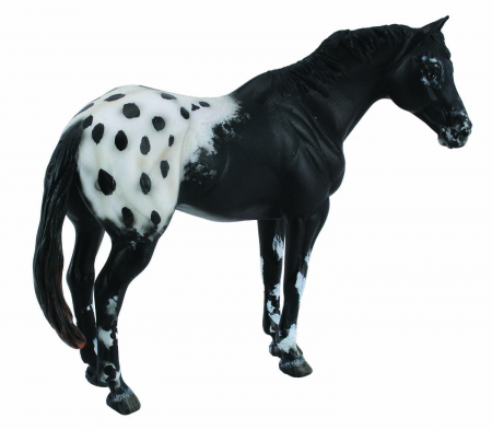 Figurina Armasar Black Appaloosa XL Collecta1