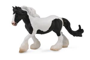 Figurina Cal Gypsy Mare - alb si negru XL Collecta0