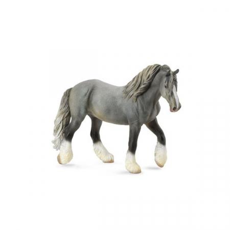 Figurina Cal Mare Gri Shire XL Collecta2