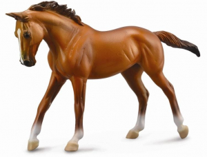 Figurina Cal Thoroughbred Mare Chestnut Deluxe0