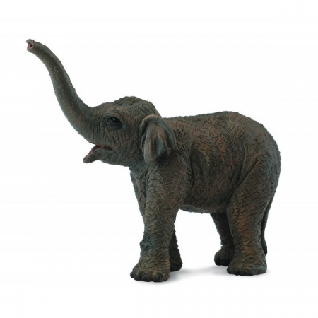 Figurina pui de Elefant asiatic S Collecta3