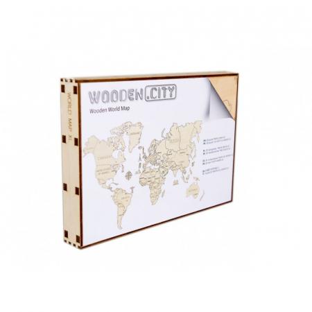 Harta lumii puzzle 3D de perete (XL)0