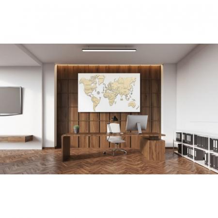 Harta lumii puzzle 3D de perete (XL)2