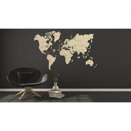 Harta lumii puzzle 3D de perete (XL)7