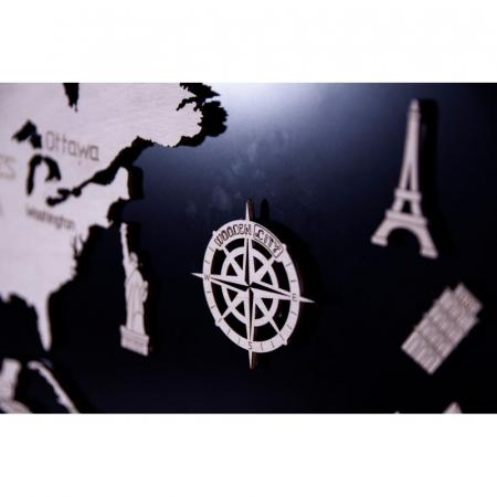 Harta lumii puzzle 3D de perete (XL)5