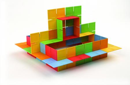 Joc de constructie Patrate DADO Original - Fat Brain Toys7
