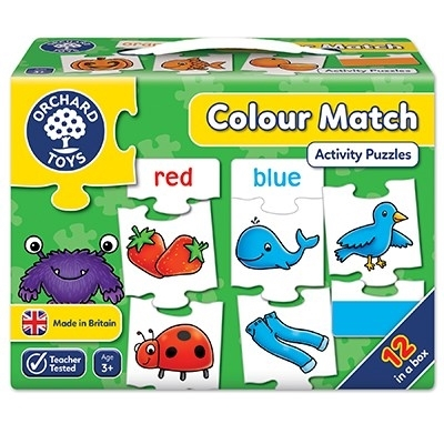 Joc educativ - puzzle in limba engleza Invata culorile prin asociere COLOUR MATCH0