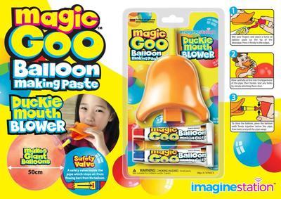 Magic Goo - Pasta de facut baloane cu suflatoare Cioc de Rata1