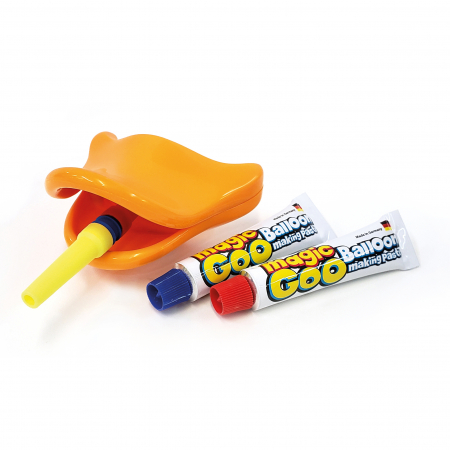 Magic Goo - Pasta de facut baloane cu suflatoare Cioc de Rata2
