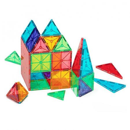 Magna-Tiles Clear Colors set magnetic (100 piese)1