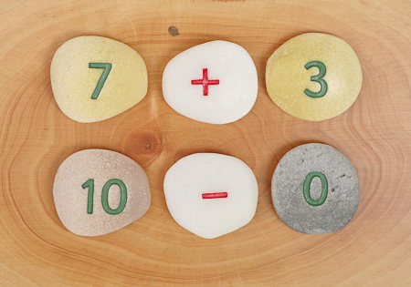 Pietricele cu numere - Set Matematica [6]